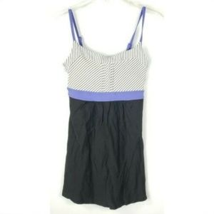 Lucy Athletic Workout Tank Top XS Black Purple
